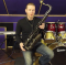 Andy brush checks out the horn Classic black tenor